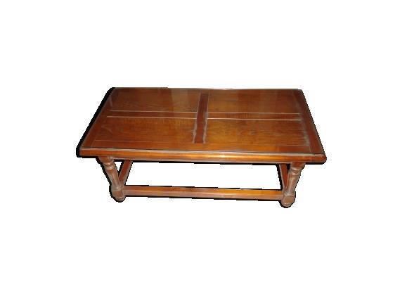 Table basse style bois foncé rectangulaire