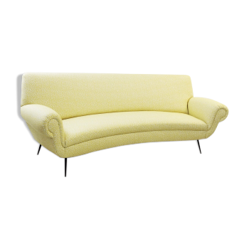 Curved sofa by Gigi Radice for Minotti, 1950s -