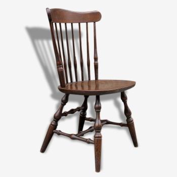 Lot de 6 chaises cuir vintage 60 70 39 s style scandinave for Chaise a barreaux