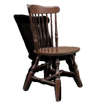 Chaise à barreaux dossier éventail bois tourné