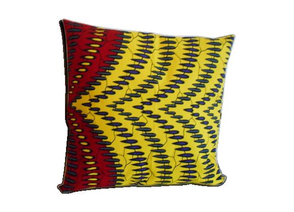 housse de coussin 50x 50 cm tissu wax tissu multicolore bon tat thnique. Black Bedroom Furniture Sets. Home Design Ideas