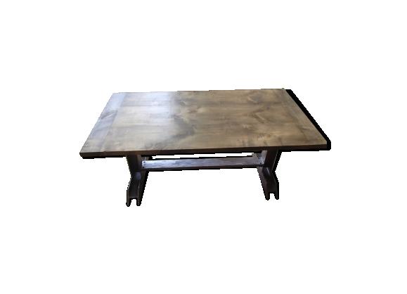 Table bois massif et métal