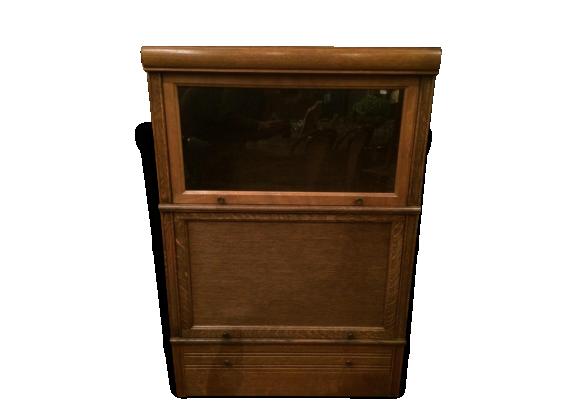 meuble vitrine md en ch ne clair bois mat riau bois couleur bon tat vintage 135177. Black Bedroom Furniture Sets. Home Design Ideas