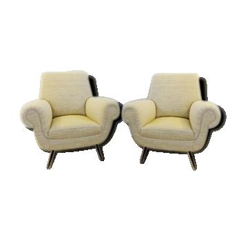 Pair of Italian armchairs by Gigi Radice - Circa 1950