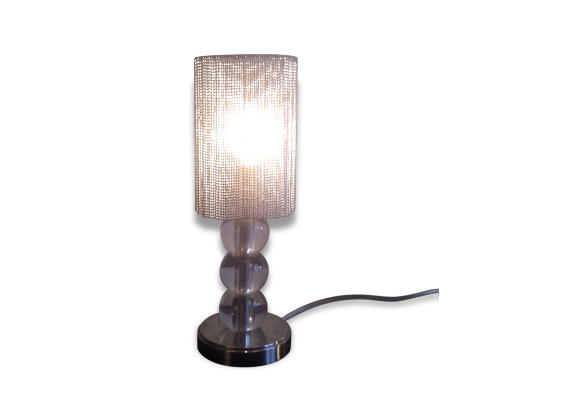 Lampe poser style adnet boules verre et cristal for Lampe a poser boule