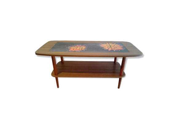 table basse ann es 50 bois mat riau multicolore bon tat vintage. Black Bedroom Furniture Sets. Home Design Ideas