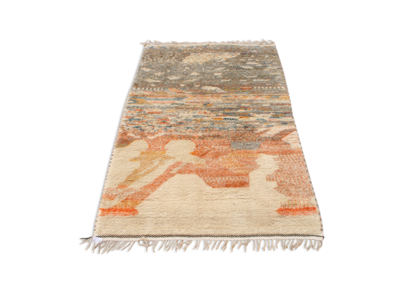 tapis berb re marocain 200x120 cm tissu multicolore bon tat design. Black Bedroom Furniture Sets. Home Design Ideas