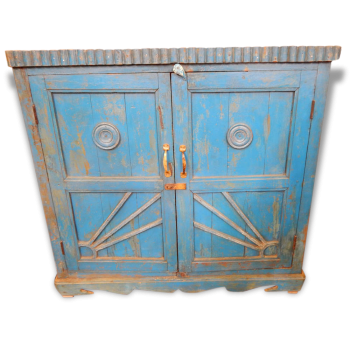 Buffet Ancien Teck Patine Originale Artisanat Inde Tha-in-daga