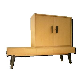 Enfilade + caisson armoire posé scandinave Design Minimaliste années 50 60