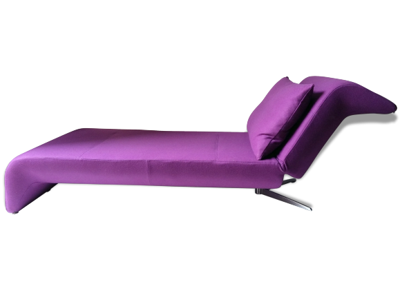 lit de repos meridienne banquette canap cinna 90 39 s tissu violet bon tat design 88883. Black Bedroom Furniture Sets. Home Design Ideas