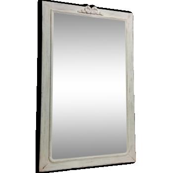 D coration et meubles shabby chic d 39 occasion for Grand miroir blanc