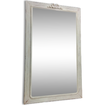 Miroir blanc patiné oxyde
