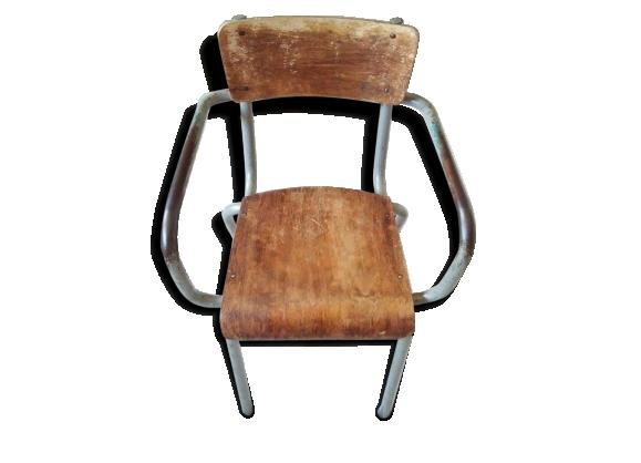 Chaise accoudoirs achat vente de chaise pas cher - Chaise d ecolier vintage ...