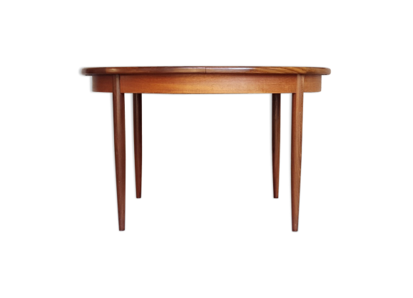 Table ronde rallonges papillon vintage scandinave en for Table scandinave a rallonge