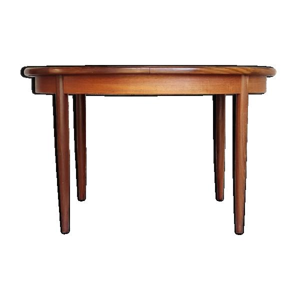 Table ronde rallonges papillon vintage scandinave en - Table ronde scandinave rallonge ...