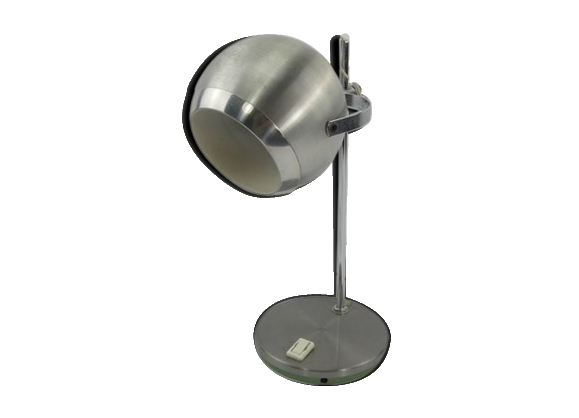 Lampe Eye Ball en aluminium brossé