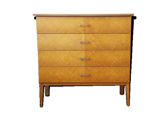 commode vintage pieds compas bois mat riau bois couleur dans son jus vintage. Black Bedroom Furniture Sets. Home Design Ideas
