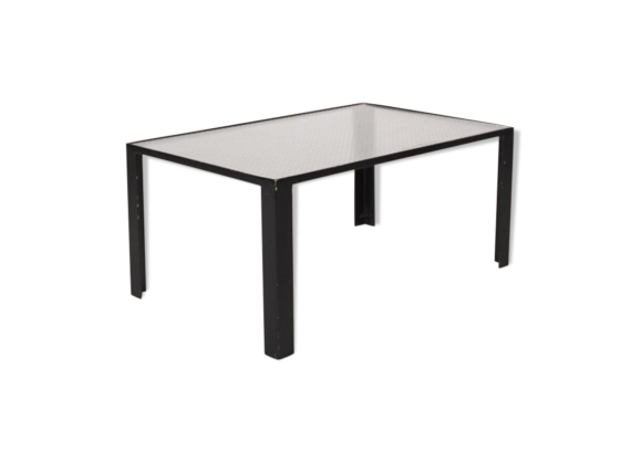 Table basse en verre transparent for Petite table basse noire