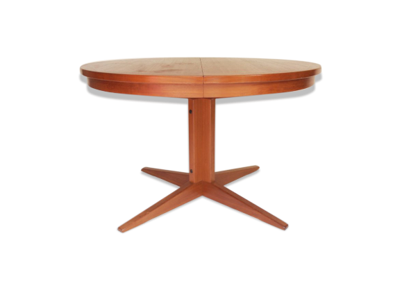 Table de salle manger ronde pied central ann es 50 60 for Table de salle a manger annee 60