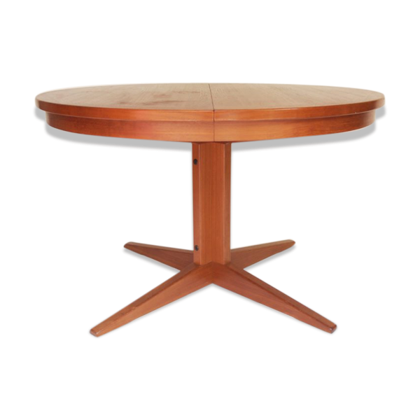 Table de salle manger ronde pied central ann es 50 60 for Table de salle a manger pied central