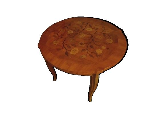 Guéridon en bois de rose style Louis XV