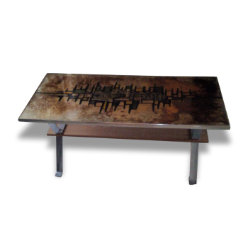 Coffee Table Designed By Cor Alons Bois Mat Riau Transparent Bon Tat Scandinave