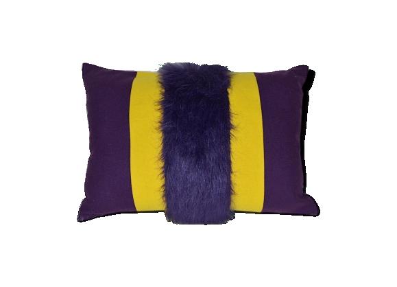 coussin fourrure achat vente de coussin pas cher. Black Bedroom Furniture Sets. Home Design Ideas