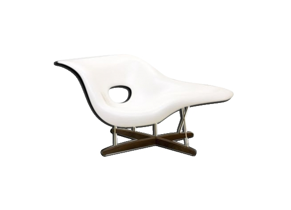 Fauteuil 'La Chaise' Vitra blanche, Charles & Ray Eames - 2003