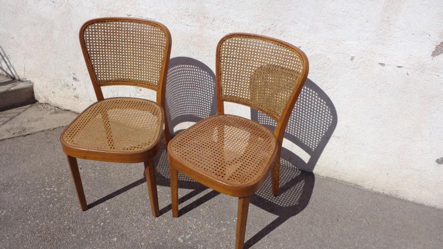 paire de chaises cann es bois mat riau bois couleur bon tat classique. Black Bedroom Furniture Sets. Home Design Ideas