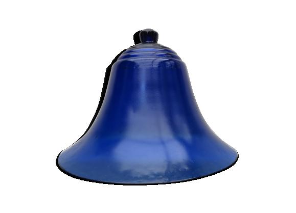Cloche en verre bleu de cobalt