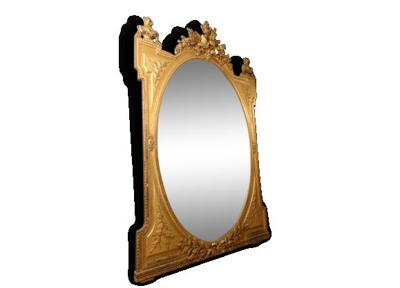 Miroir grand dor for Grand miroir dore