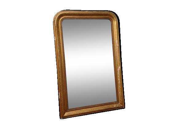 miroir louis philippe dor la feuille bois mat riau dor dans son jus classique. Black Bedroom Furniture Sets. Home Design Ideas