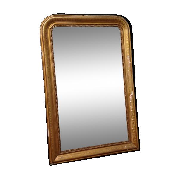 Miroir louis philippe dor la feuille bois mat riau for Miroir louis philippe