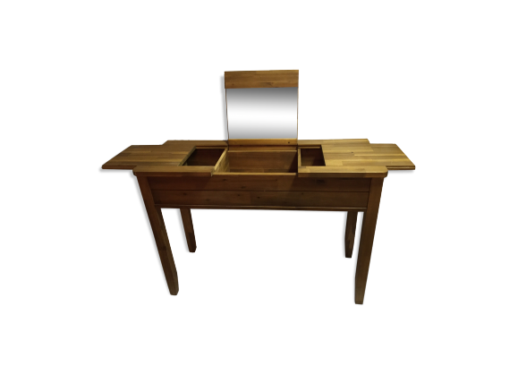 coiffeuse bois mat riau bois couleur bon tat classique. Black Bedroom Furniture Sets. Home Design Ideas