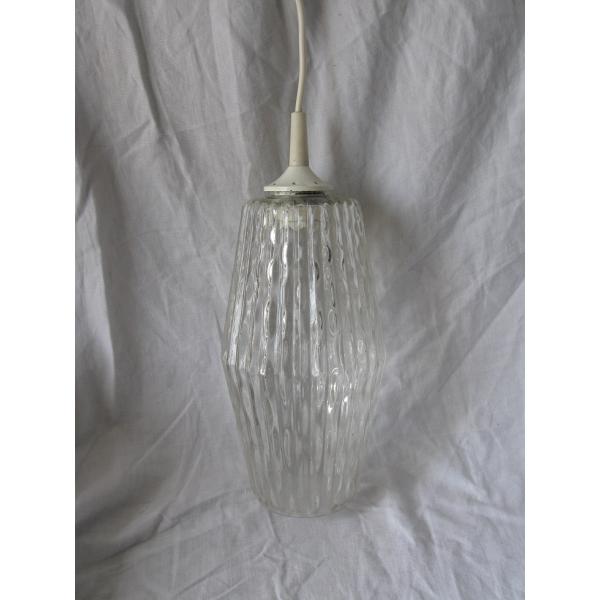 suspension en verre luminaire vintage verre et cristal transparent dans son jus. Black Bedroom Furniture Sets. Home Design Ideas