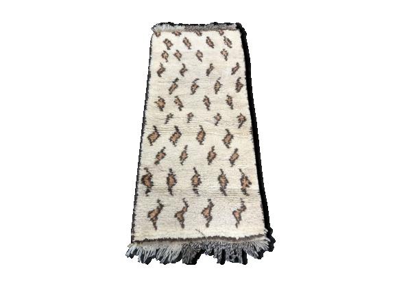 tapis berb re marocain 177x80cm tissu multicolore bon tat thnique. Black Bedroom Furniture Sets. Home Design Ideas