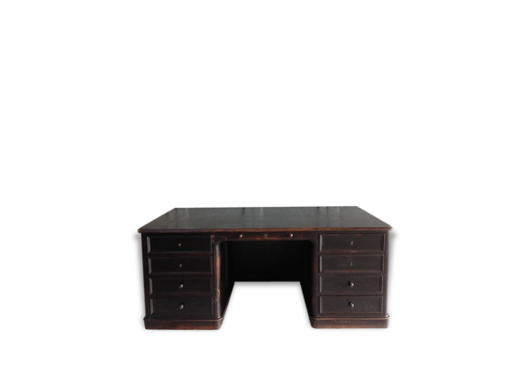 bureau napol on iii bois mat riau noir bon tat classique 165185. Black Bedroom Furniture Sets. Home Design Ideas