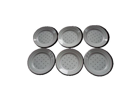6 assiettes plates Luneville modèle Yveline