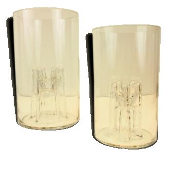 Set vases conçus par Toni Zuccheri et produits par Peill & Putzler (signé)