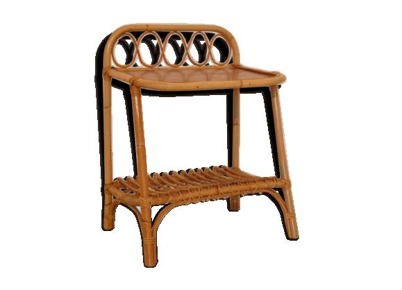 chevet en rotin rotin et osier bois couleur bon tat scandinave. Black Bedroom Furniture Sets. Home Design Ideas
