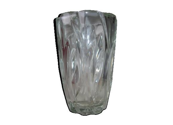 Vase en verre années 50-60