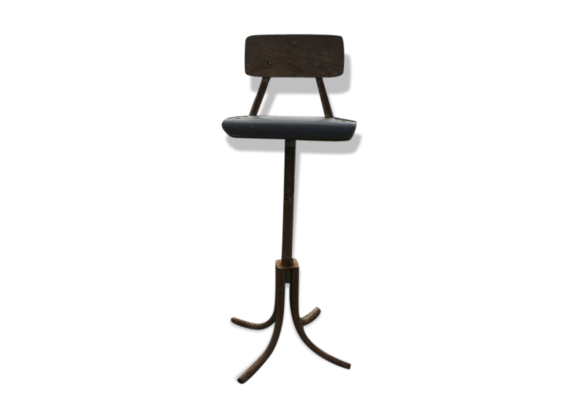 chaise d 39 architecte tabouret m tal vert dans son. Black Bedroom Furniture Sets. Home Design Ideas