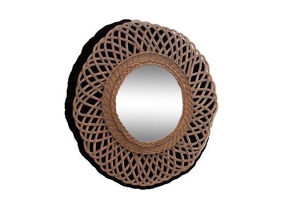 miroir rotin achat vente de miroir pas cher. Black Bedroom Furniture Sets. Home Design Ideas