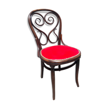 chaise de couleur rouge vintage d 39 occasion. Black Bedroom Furniture Sets. Home Design Ideas