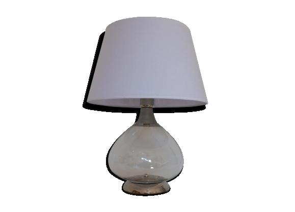 lampe de table italienne en m tal chrom et verre souffl 1970s verre et cristal transparent. Black Bedroom Furniture Sets. Home Design Ideas