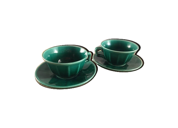 Duo de tasses à expresso et soucoupes