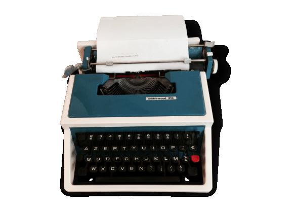 Machine à écrire vintage Underwood 315, bleue