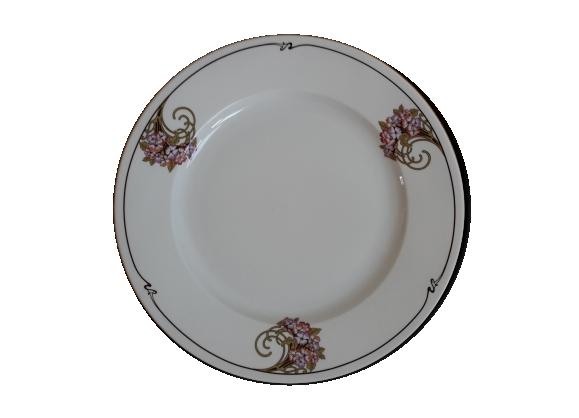 Assiette de présentation porcelaine Sarregueline modèle Charleston