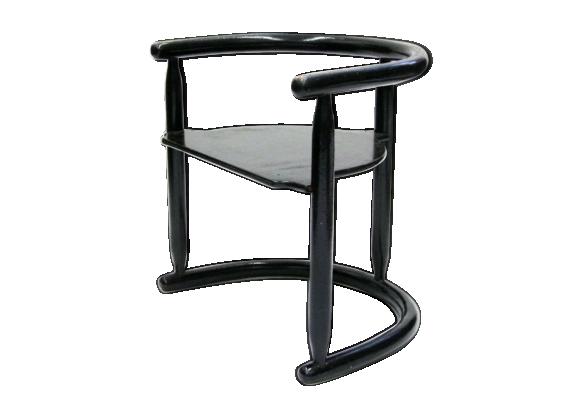 chaise pour enfant de karin mobring ann es 1960 bois mat riau noir bon tat vintage. Black Bedroom Furniture Sets. Home Design Ideas
