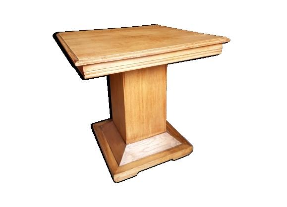 Table appoint chêne massif art déco 1930